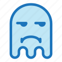 emoji, emoticon, ghost, halloween, sad icon