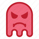 angry, emoji, emoticon, ghost, halloween, react icon