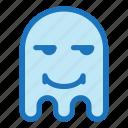 emoji, emoticon, envy, ghost, halloween, smile icon