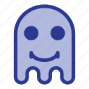 emoji, emoticon, ghost, smile icon