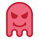 angry, devil, emoji, emoticon, ghost icon