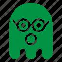 color, emoji, emoticon, geek, ghost, glasses icon