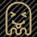 emoji, emoticon, ghost, happy, tongue icon
