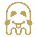 emoji, ghost, laugh, tongue icon