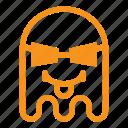 cool, emoji, emoticon, ghost, savage, thug, tongue icon