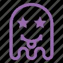 emoji, emoticon, ghost, star, tongue icon