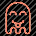 emoji, emoticon, ghost, tongue icon