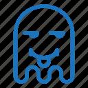 emoji, emoticon, envy, ghost, tongue icon
