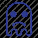 emoji, emoticon, ghost, sad icon