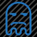 emoji, emoticon, envy, ghost, mustache icon