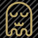 cat mouth, emoji, emoticon, ghost, sad icon