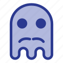 emoji, emoticon, ghost, halloween, mustache icon