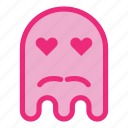 emoji, emoticon, ghost, halloween, love, mustache icon