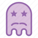 emoji, emoticon, ghost, mustache icon