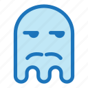 bored, emoji, emoticon, ghost, mustache icon