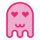 cat mouth, emoji, emoticon, ghost, halloween, love icon