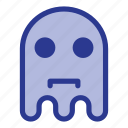 emoji, emoticon, ghost, sad icon