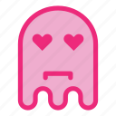 emoji, emoticon, ghost, love icon