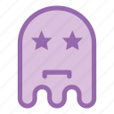 emoji, emoticon, ghost, star icon