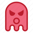 angry, emoji, emoticon, ghost, halloween, react, wow icon