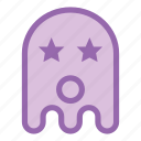 emoji, emoticon, ghost, halloween, star, wow icon