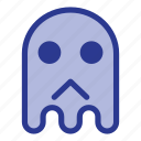 emoji, emoticon, ghost, halloween, sad icon
