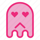 emoji, emoticon, ghost, halloween, love icon