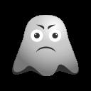 depressed, emoji, emoticon, ghost, sad, smiley, unhappy icon