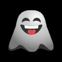 crazy, emoji, emoticon, face, ghost, naughty, smile, smiley icon