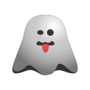 emoji, emoticon, ghost, naughty, out, smiley, stuck, tongue icon