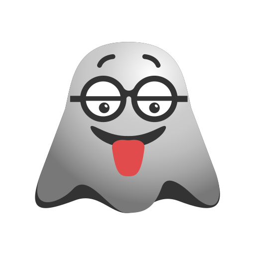 crazy, emoji, emoticon, face, ghost, naughty, smiley, tongue icon