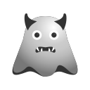 angry, devil, emoji, emoticon, face, ghost, grinning, smiley icon
