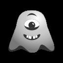 crazy, cyclops, emoji, emoticon, face, ghost, laughing, smiley icon