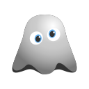 distraught, emoji, emoticon, exhausted, face, ghost, smile, smiley icon