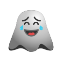 emoji, emoticon, ghost, laughing, smiley icon