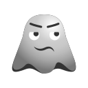 afraid, confounded, confused, emoji, emoticon, face, ghost, smiley icon
