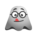 emoji, emoticon, ghost, naughty, out, smiley, teasing, tongue icon