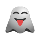 crazy, emoji, emoticon, face, ghost, naughty, out, smiley, stuck, tongue icon