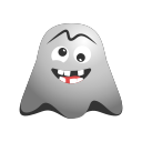 crazy, emoji, emoticon, face, ghost, laughing, naughty, smiley icon