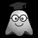 academiccap, degree, emoji, emoticon, ghost, graduation, smiley, student icon