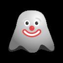 clown, emoji, emoticon, ghost, jester, joker, smiley icon