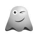 emoji, emoticon, ghost, smiley, smirking, winking icon