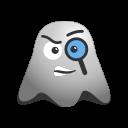 curious, detective, emoji, emoticon, exploration, ghost, smiley icon