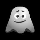 big, emoji, emoticon, face, ghost, grin, happy, laughing, smile, smiley icon