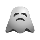 angry, annoyed, emoji, emoticon, ghost, smiley icon