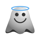 angel, emoji, emoticon, ghost, halo, smiley icon
