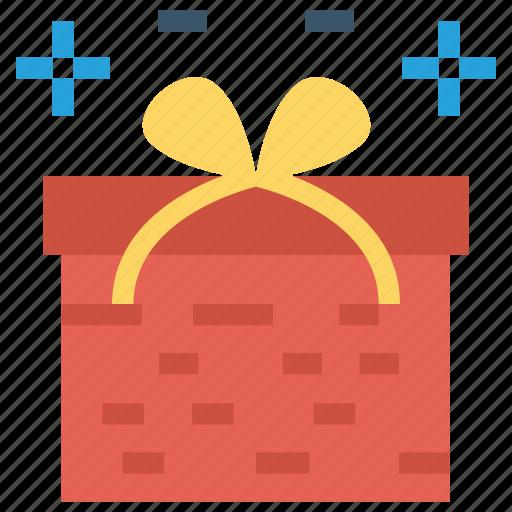 Birthday Gift Box Celebration Christmas Present Icon
