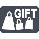 gift cards, prize, purchase, shopping icon