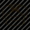 bow, box, gift, holiday, packing, present, ribbon