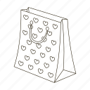 bow, box, gift, holiday, packing, present, ribbon icon